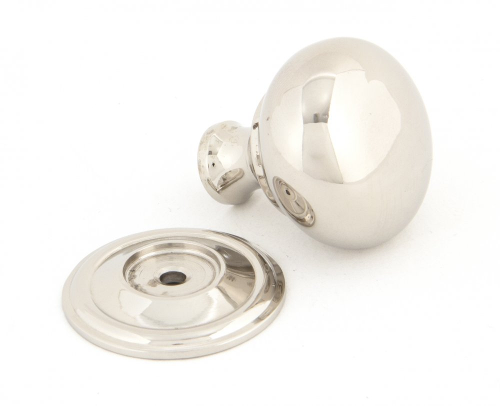 Polished Nickel Mushroom Cabinet Knob - Small image