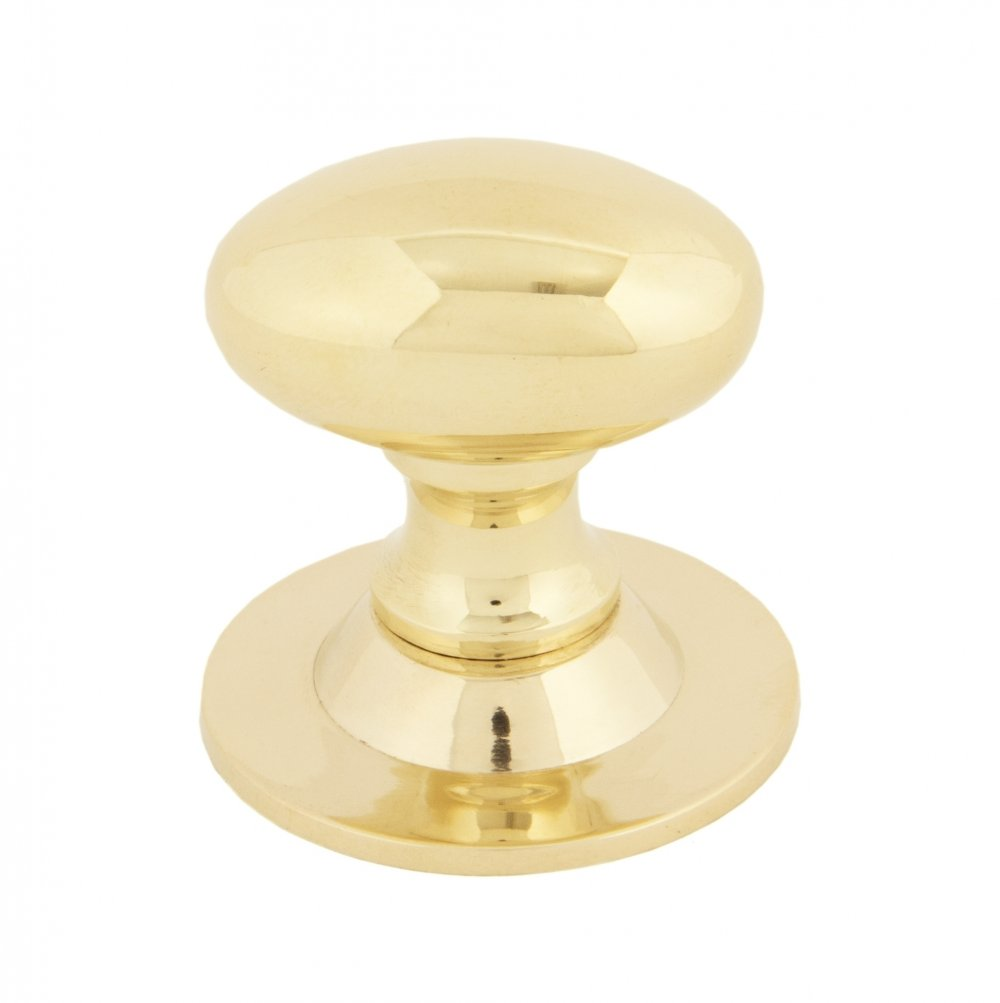 Polished Brass Oval Cabinet Knob - Small image