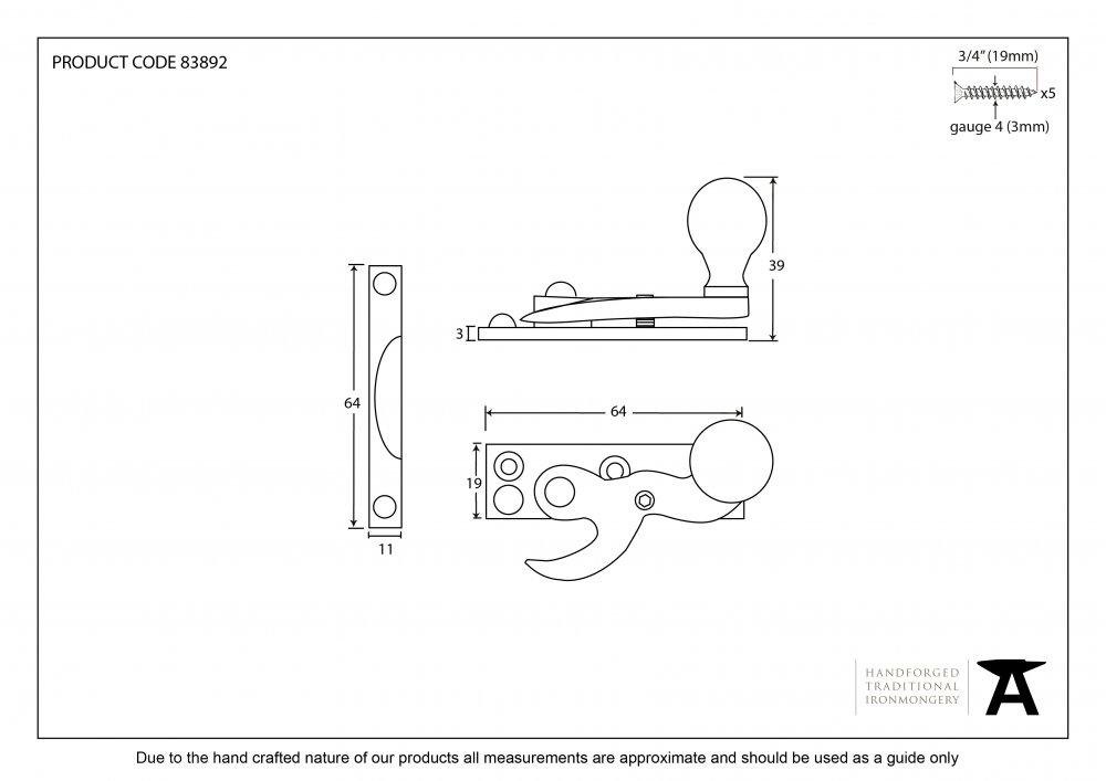 Polished Chrome Standard Hook Fastener image