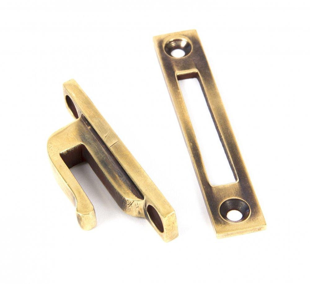 Aged Brass Reeded Fastener - Locking image