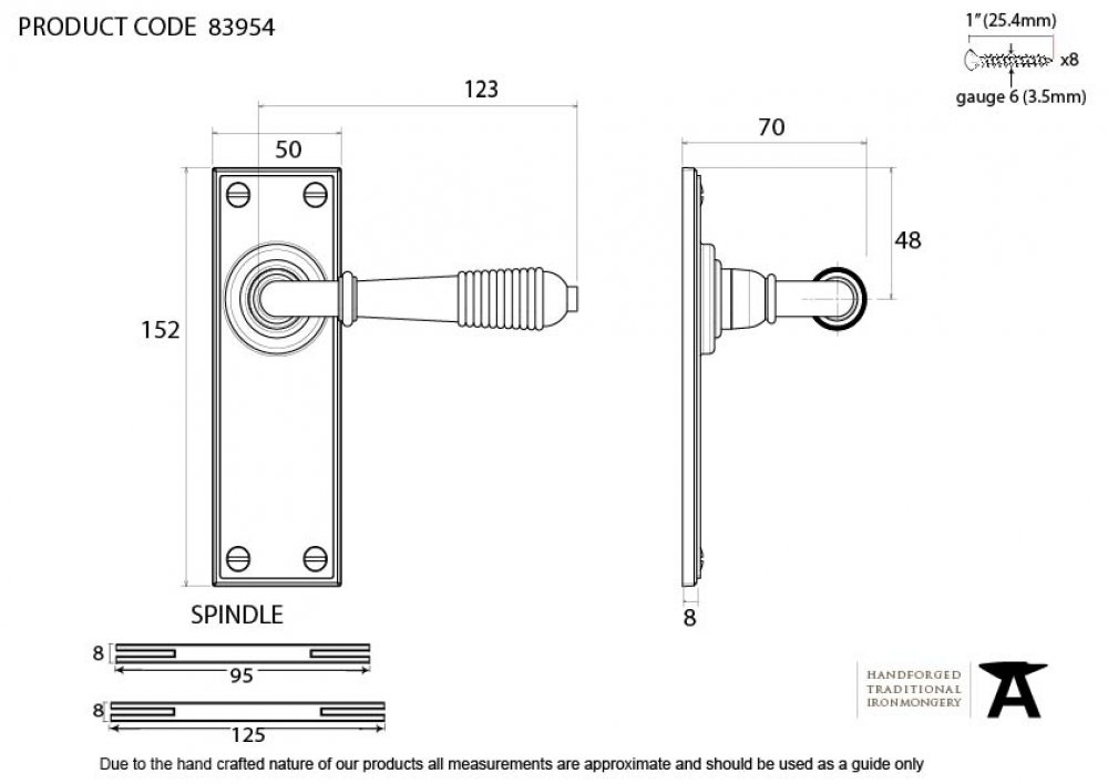 Aged Bronze Reeded Lever Latch Set image