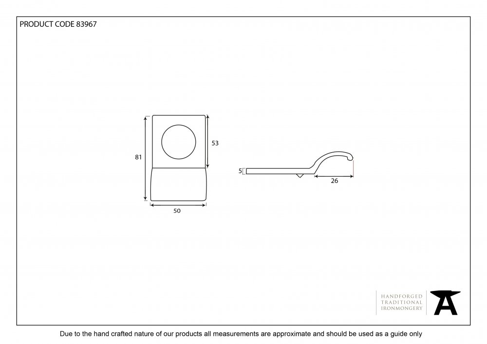 Aged Bronze Rim Cylinder Pull image