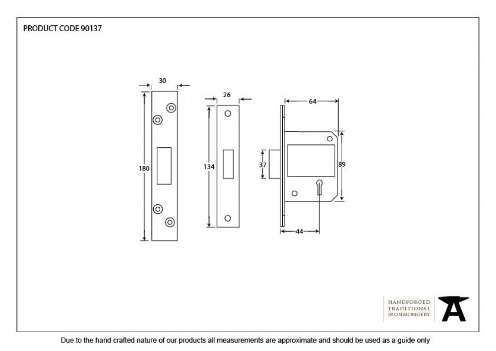 "SSS BS 2 1/2""  5 Lever Dead Lock image"