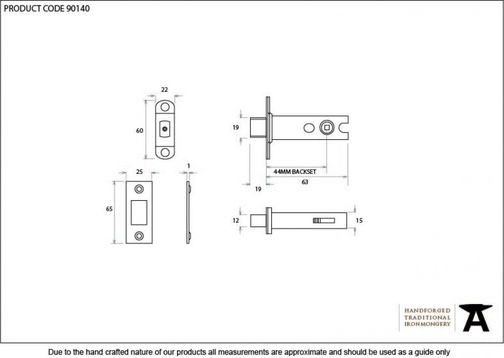 Brass 2'' Heavy Duty Tubular Deadbolt image