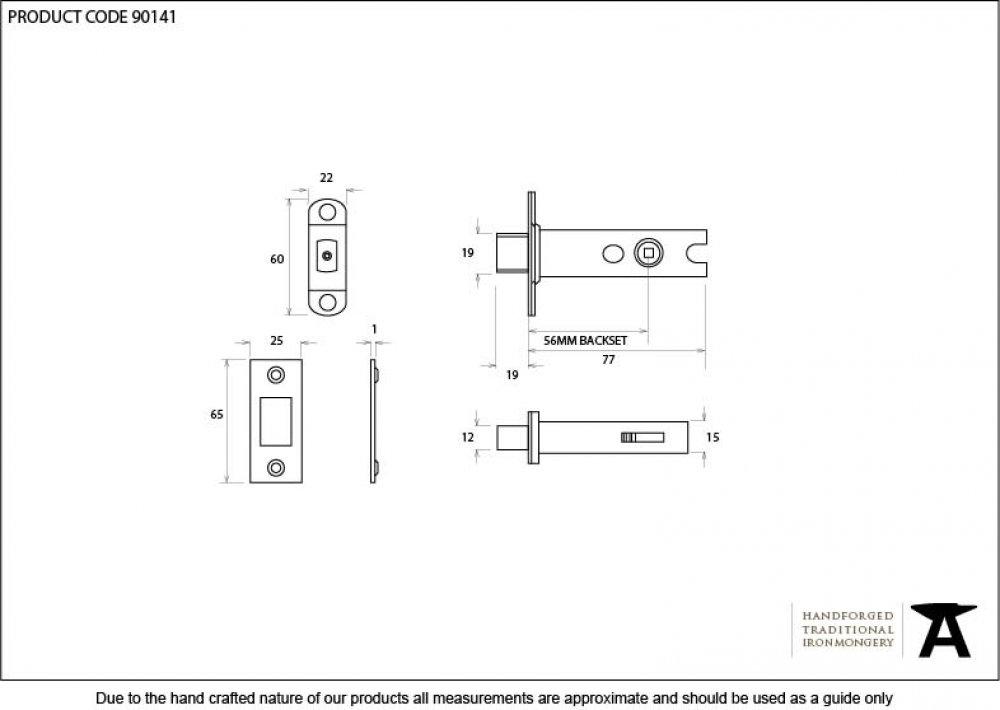 Brass 3'' Heavy Duty Tubular Deadbolt image
