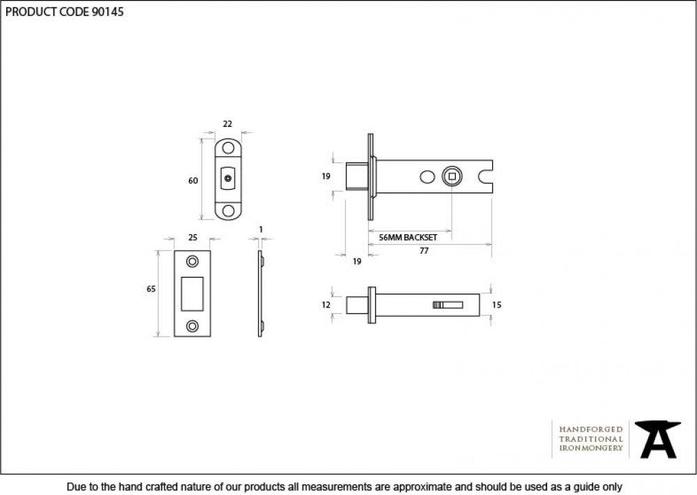 Black 3'' Heavy Duty Tubular Deadbolt image