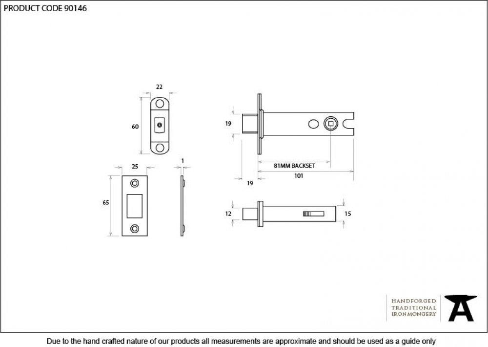 Black 4'' Heavy Duty Tubular Deadbolt image