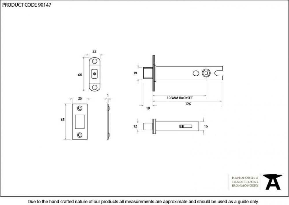 Black 5'' Heavy Duty Tubular Deadbolt image