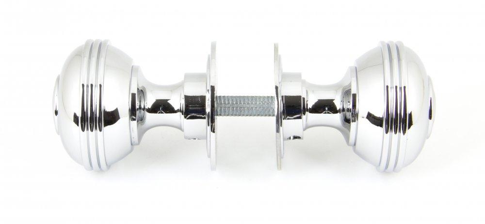 Polished Chrome Prestbury Mortice/Rim Knob Set - 50mm image