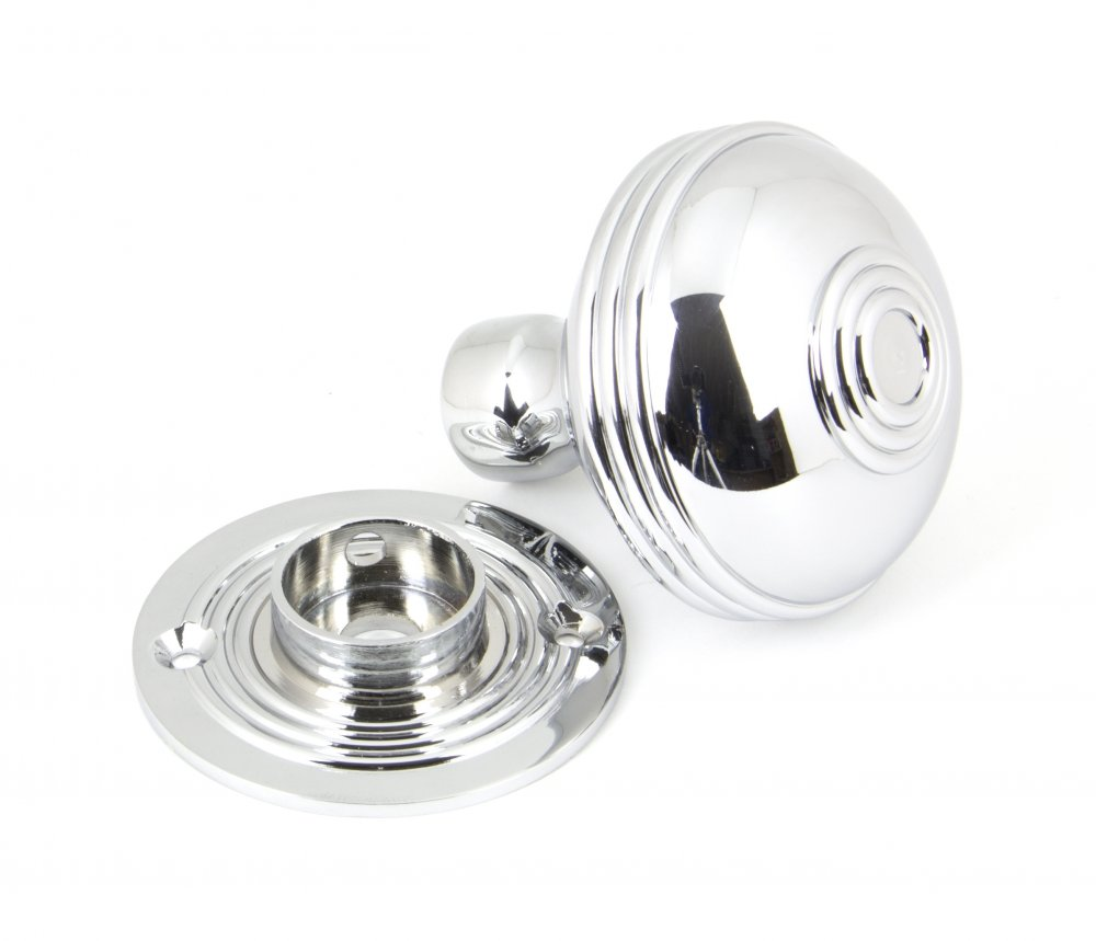 Polished Chrome Prestbury Mortice/Rim Knob Set - 63mm image
