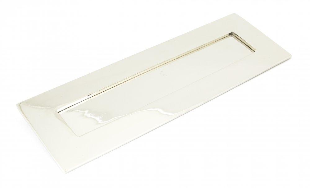 Polished Nickel Letterplate -  Large image