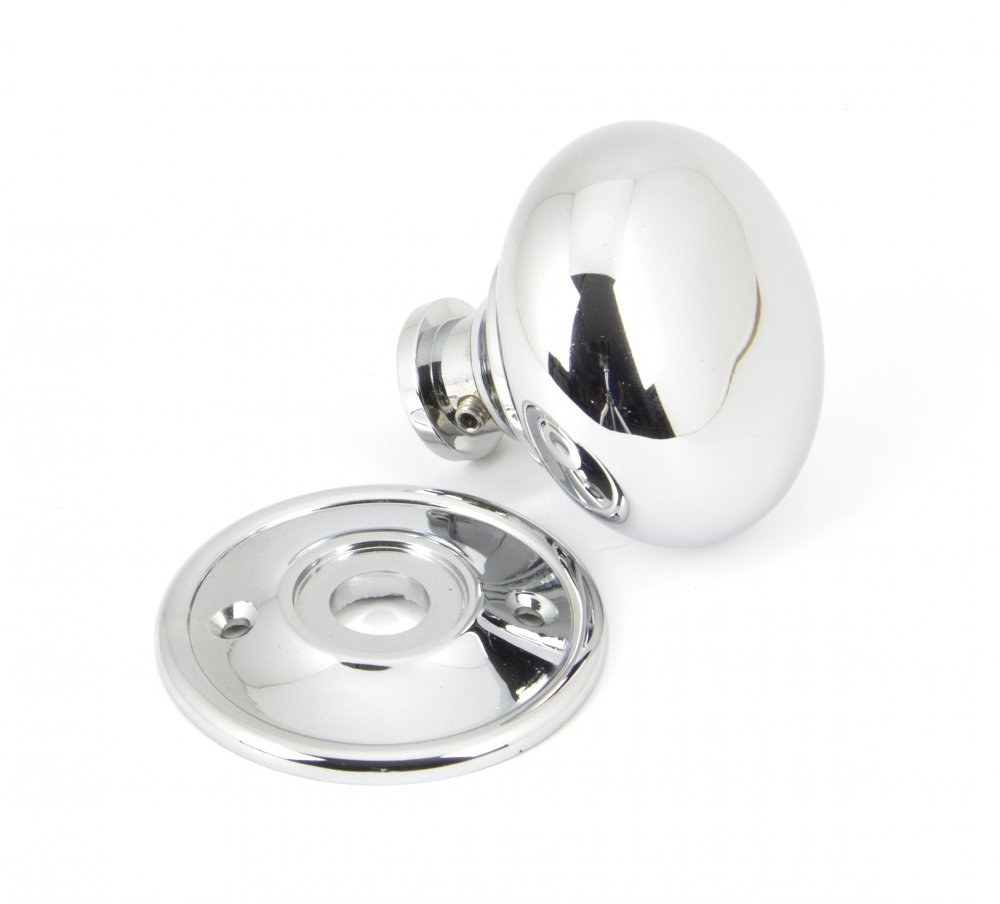 Polished Chrome Mushroom Mortice/Rim Knob Set image