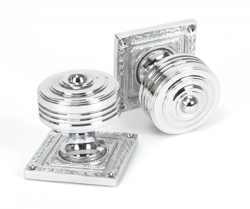 Polished Chrome Tewkesbury Square Mortice Knob Set image