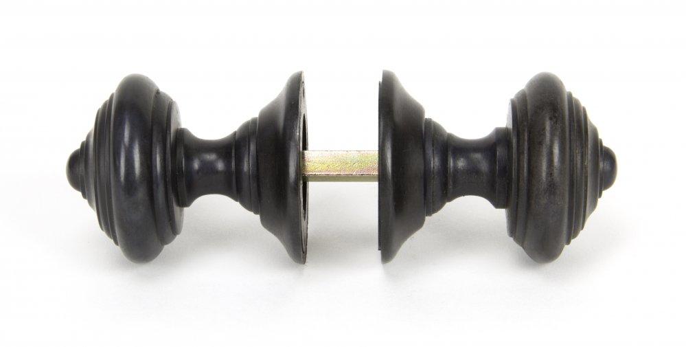 Aged Bronze Elmore Concealed Mortice Knob Set image