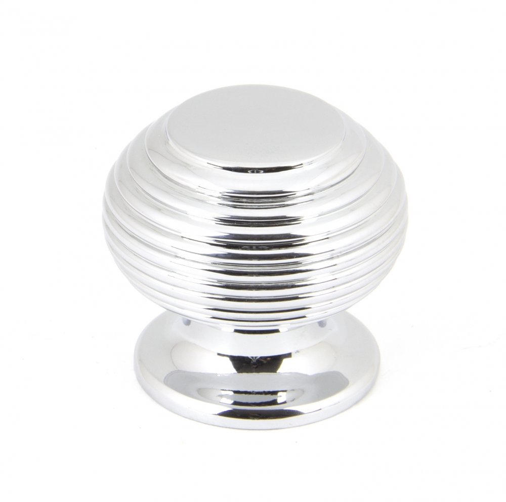 Polished Chrome Beehive Cabinet Knob - Small image