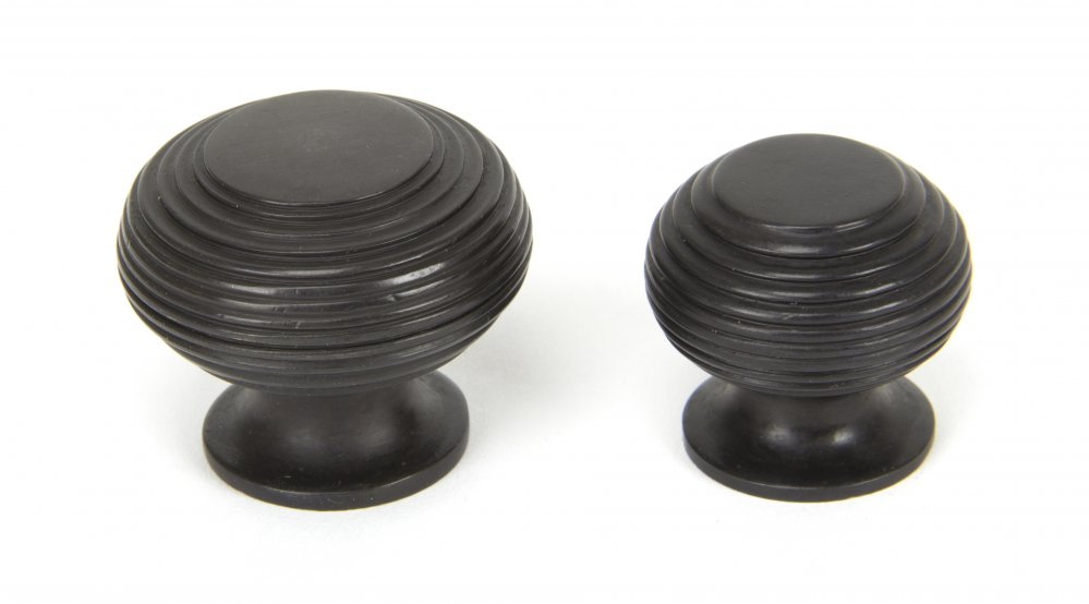 Aged Bronze Beehive Cabinet Knob - Small image
