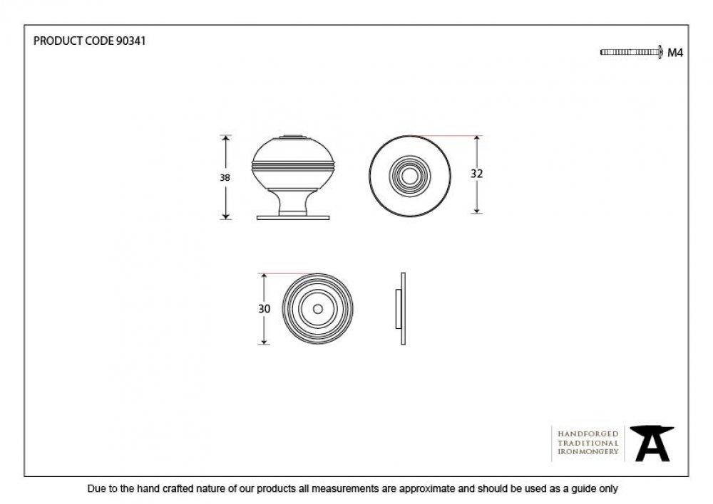 Polished Chrome Prestbury Cabinet Knob - Small image