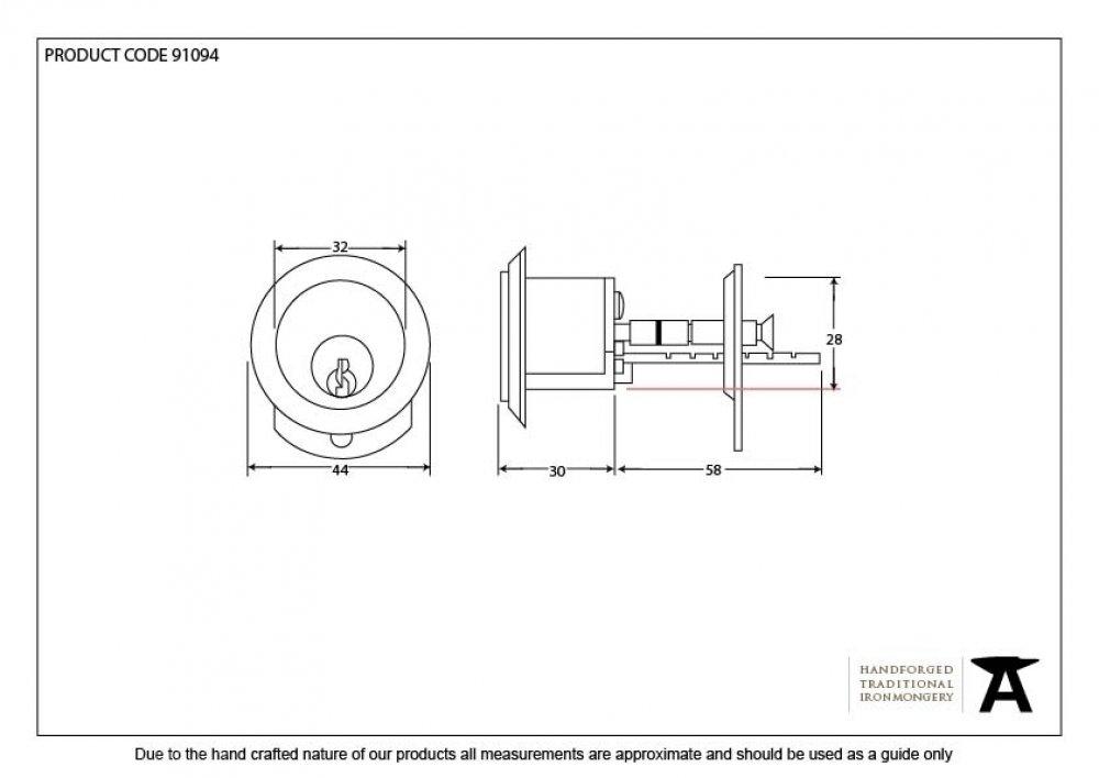 Black Rim Cylinder KD image
