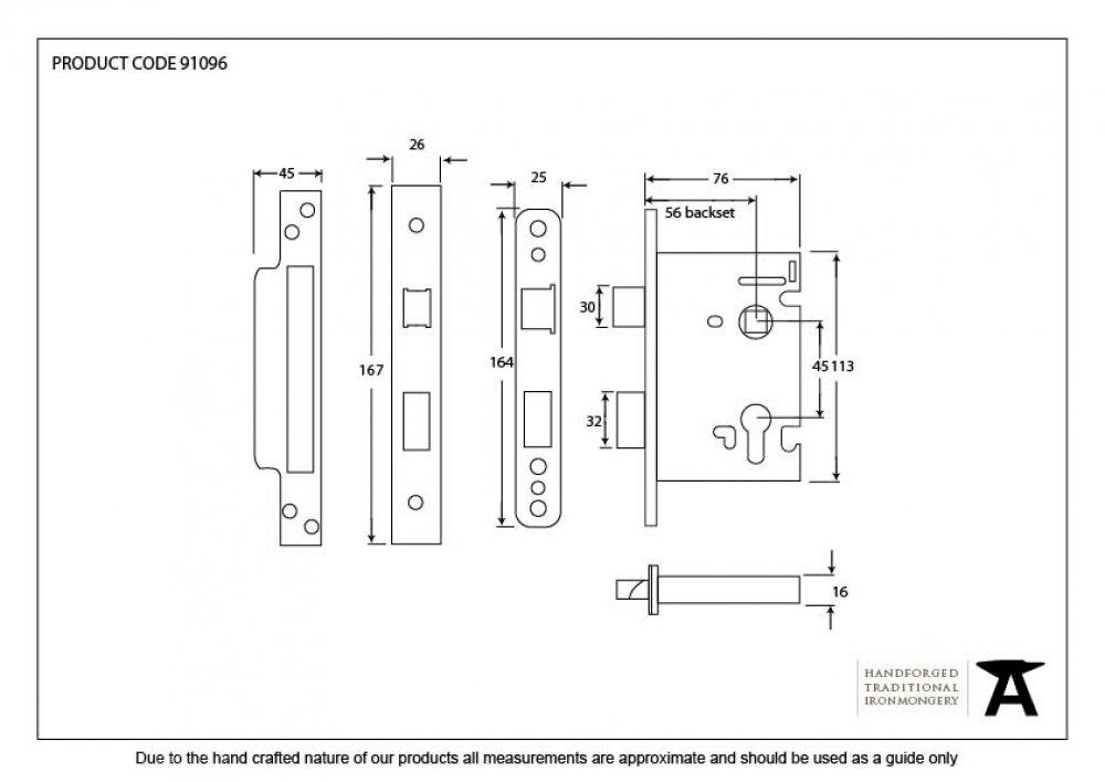 SSS 3'' Euro Profile Sash Lock image