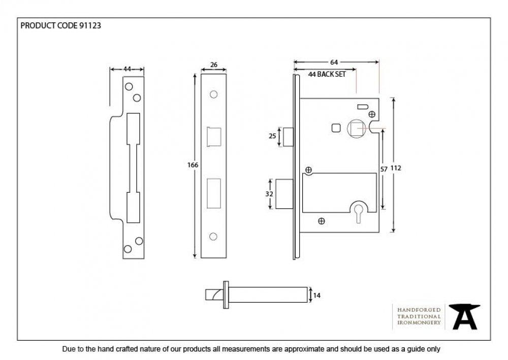 "SSS 2.5"" BS Heavy Duty 5 Lever Sashlock (KA) image"