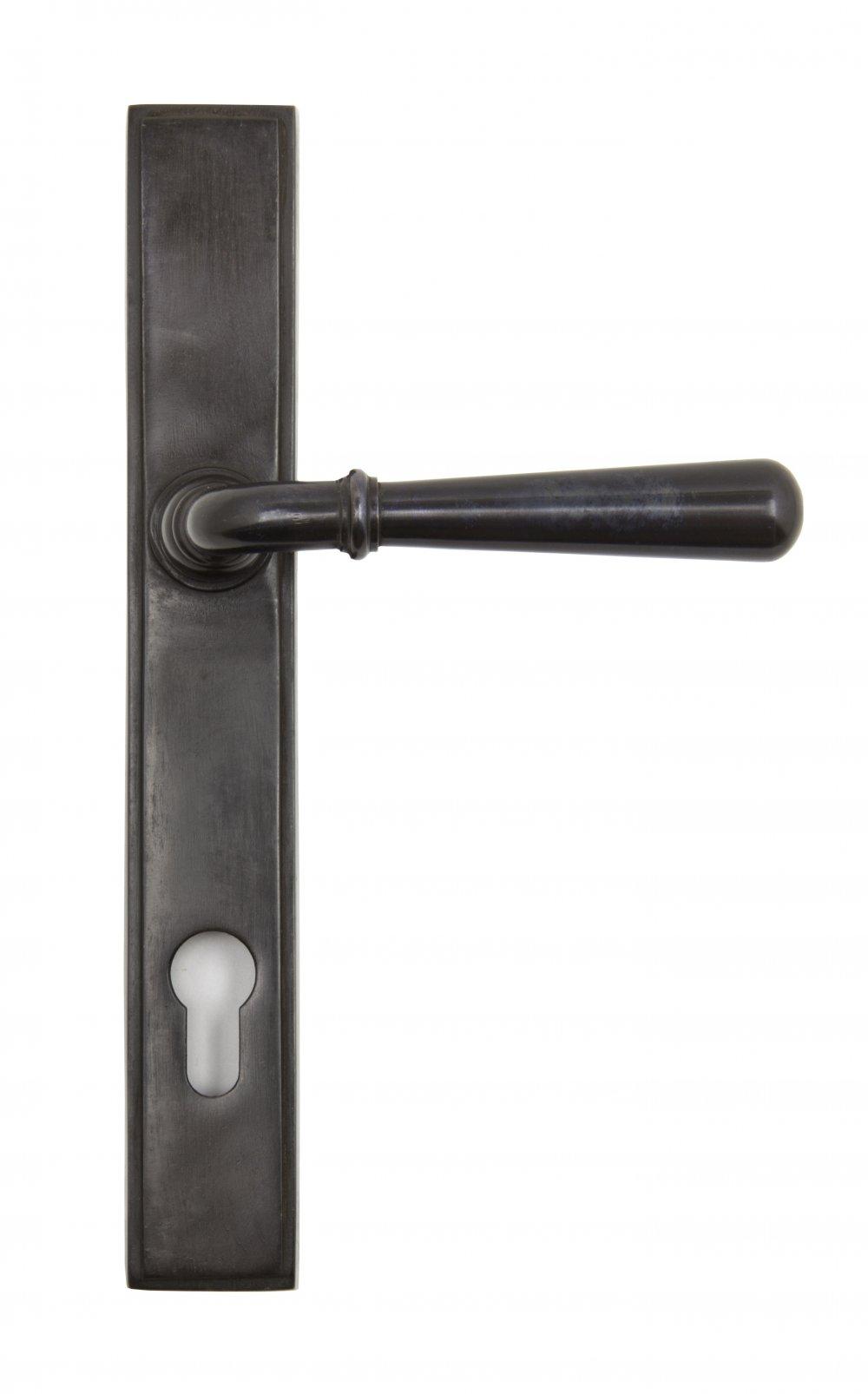 Aged Bronze Newbury Slimline Lever Espag. Lock Set image