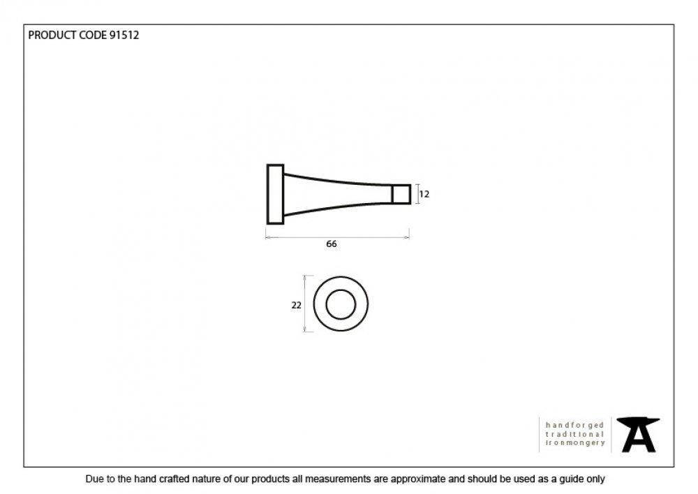 Polished Nickel Projection Door Stop image
