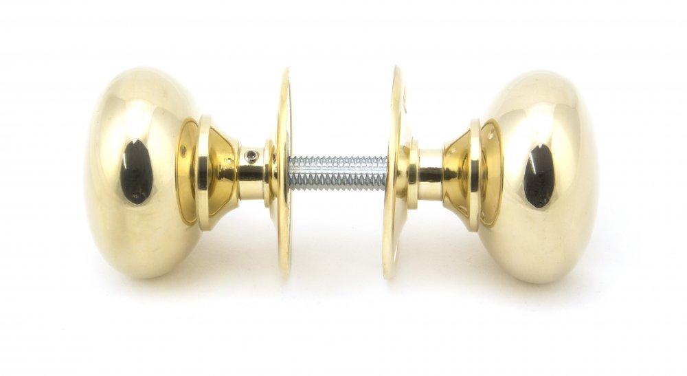 Polished Brass 57mm Mushroom Mortice/Rim Knob Set image
