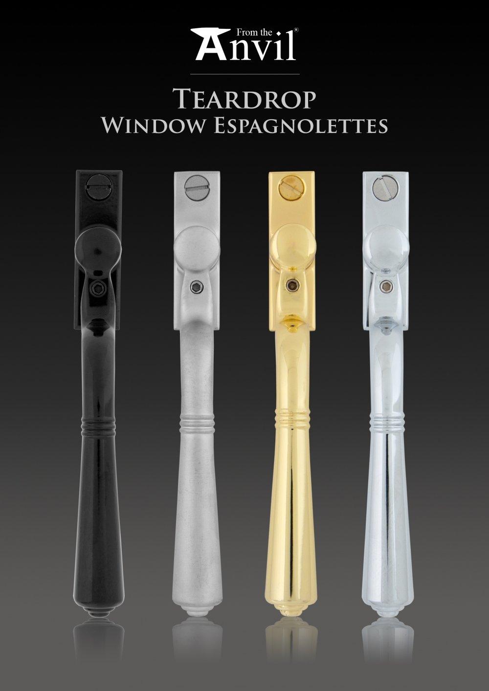 Polished Brass Teardrop Espag. Window Handle image