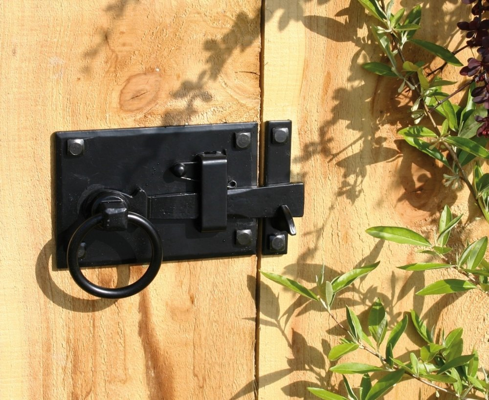 Black Cottage Latch - LH image