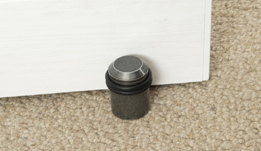 Pewter Floor Mounted Doorstop image