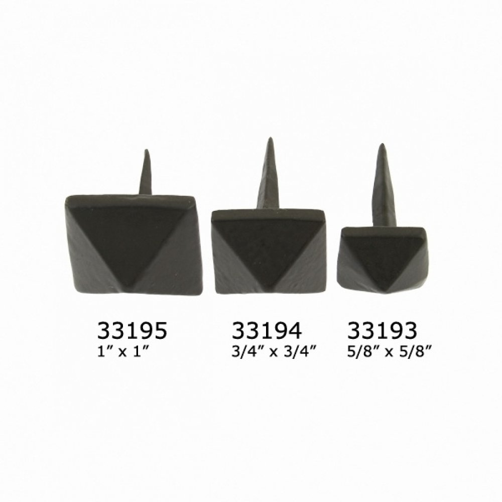 Black Pyramid Door Stud - Large image