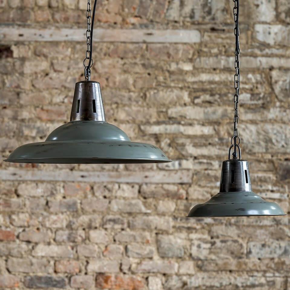 Hanging Vintage Pendant - Distressed Grey