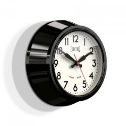 Newgate 50's Electric Clock (Small) - Black