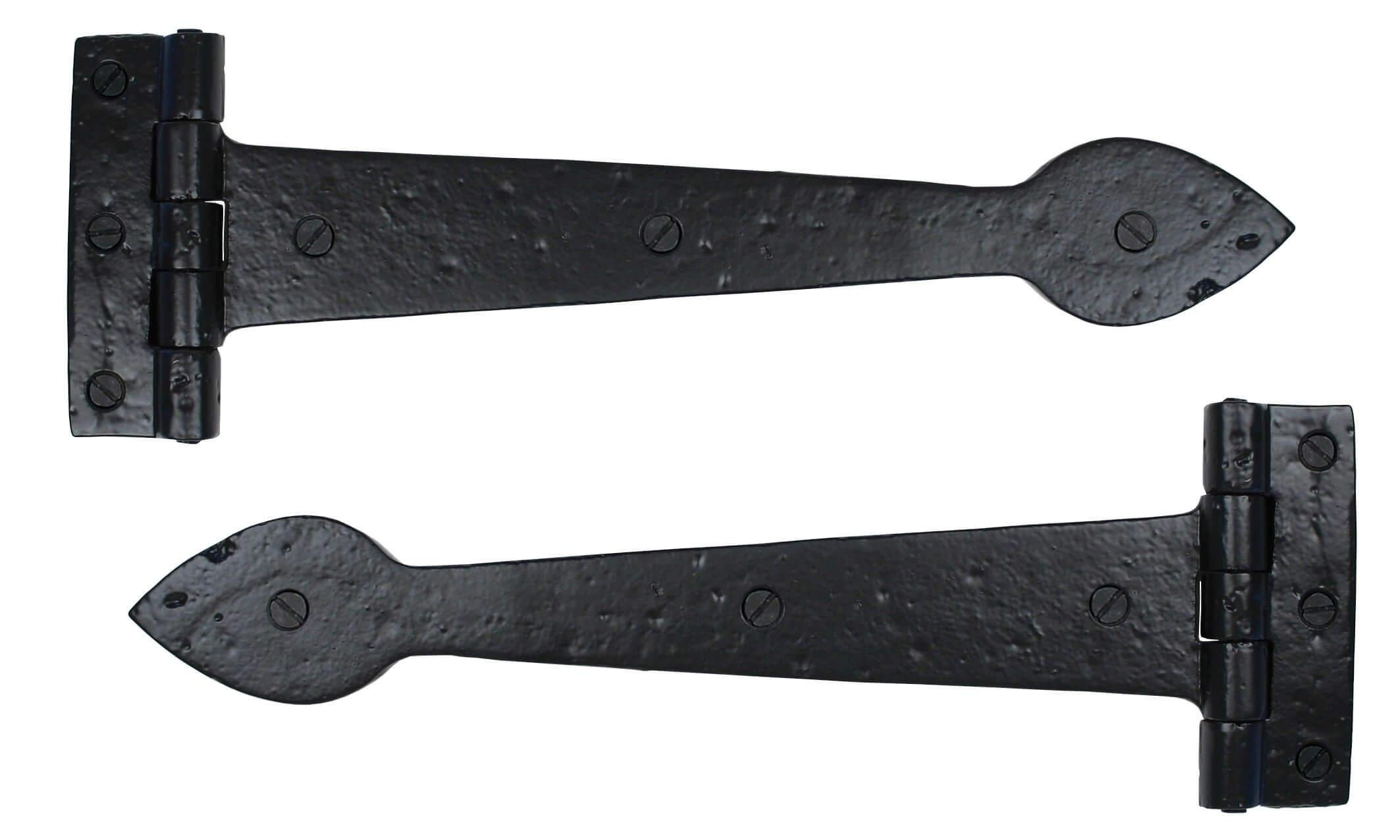 "Black Smooth 12"" T Hinge (pair) image"