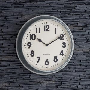 Indoor/Outdoor Galvanised Steel Clock - Large