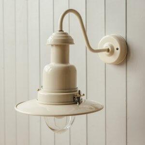 Wall Mounted Fishing Light - Cream