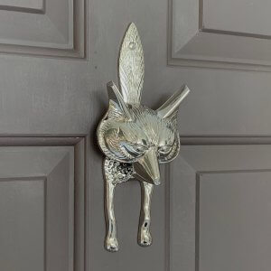 Fox Door Knocker - Nickel