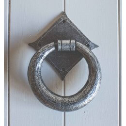 Ring Hand Forged Knocker- Pewter