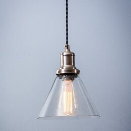 Hoxton Glass Pendant Light - Cone SAVE 15%
