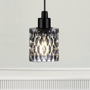 The Crystal Pendant Light - Smoke Glass save 20%