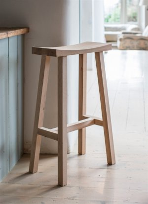 Tall Clockhouse Raw Oak Stool