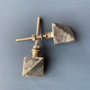 Grey Marble Cabinet Knobs - Set of Two save 35%