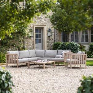 Clovelly Corner Sofa Set - Acacia