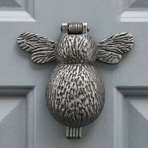 Bumble Bee Door Knocker - Antique Iron