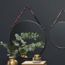 Round Mirror - Antique Zinc