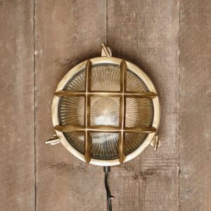Bulkhead Light Round - Aged Brass