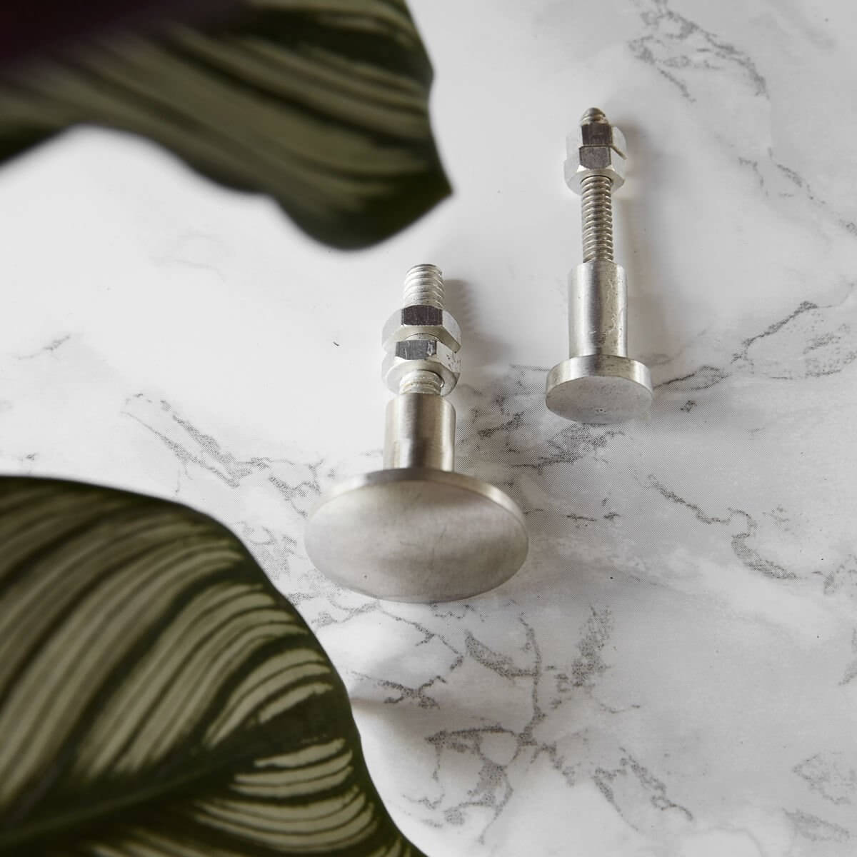 Cabinet Knob - Smooth Silver SAVE 40% OFF