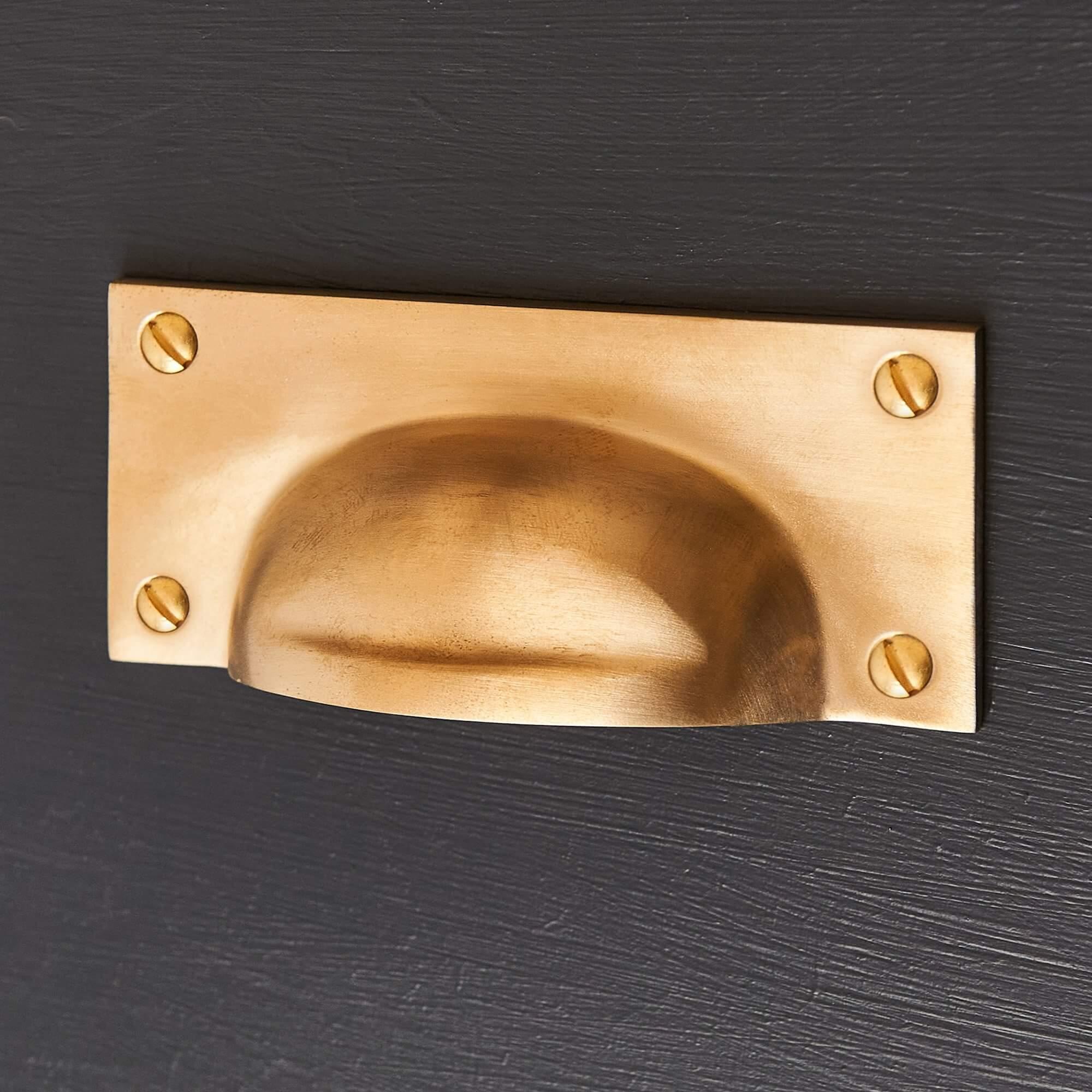 Cast Drawer Pull (Large) - Satin Brass