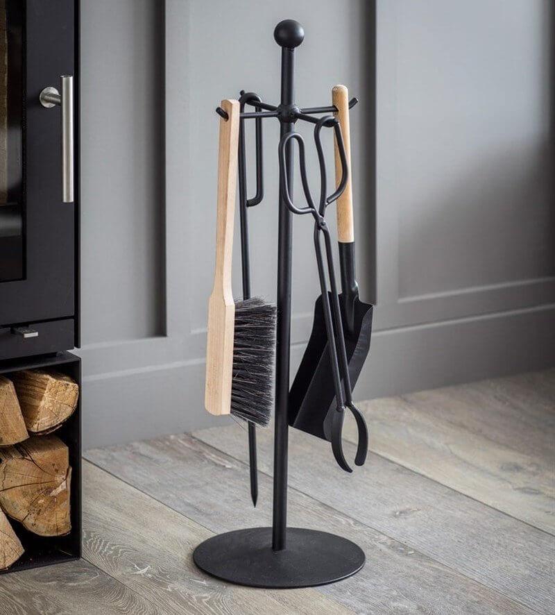 Black Steel Fireside Tool Set