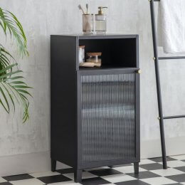 Matt Black Bathroom Cabinet
